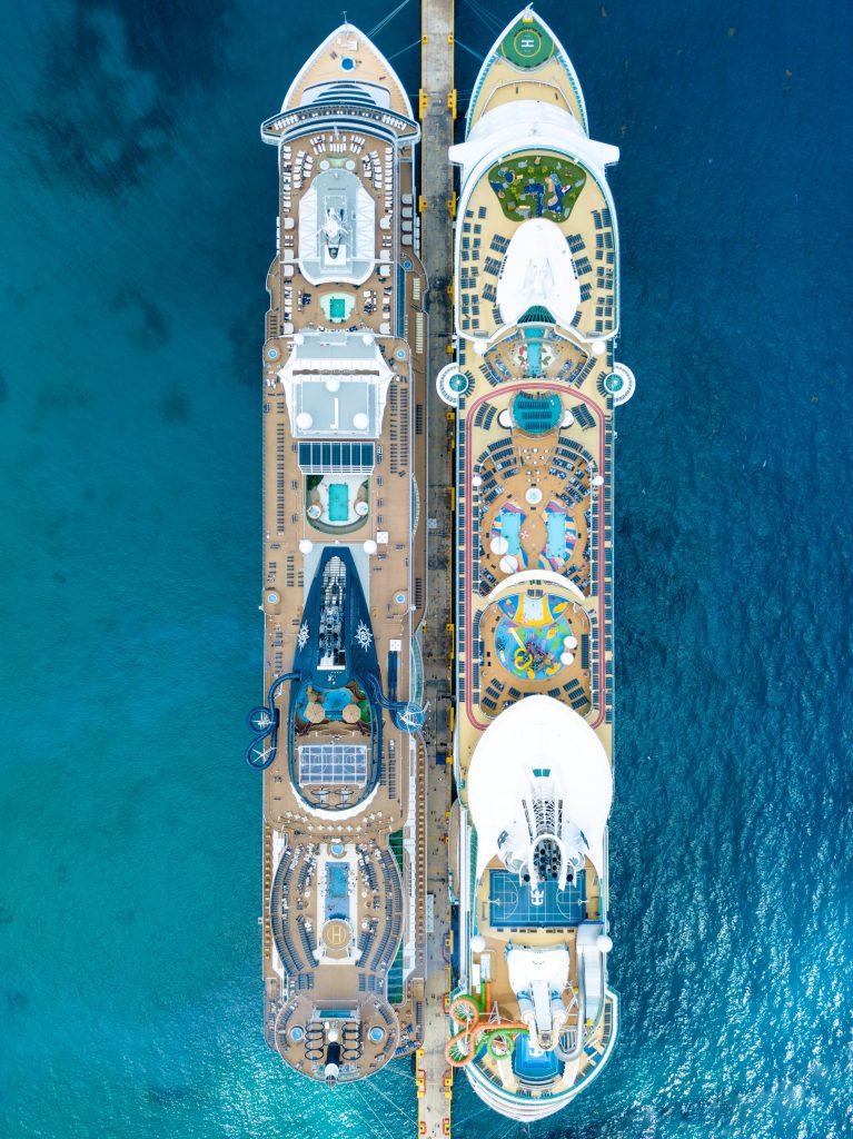 Vista superior de cruceros